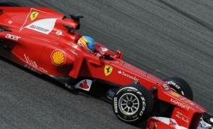 Ferrari F2012 na pré-temporada em Barcelona.
